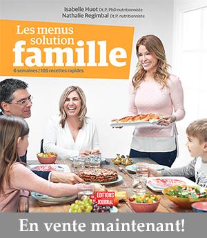 Livre Les menus solution famille Isabelle Huot