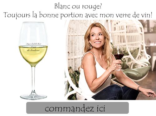 Verre de vin Isabelle Huot Docteure en nutrition